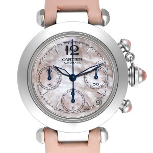Cartier Pasha C Christmas Limited Edition MOP Steel Ladies Watch W3106599