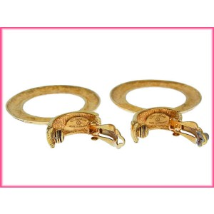 Chanel Gold Tone Hardware Earrings