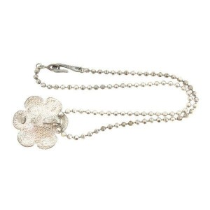 Chanel Silver Tone Hardware Necklace