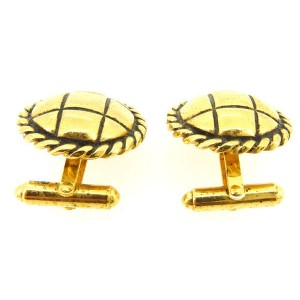 Chanel Gold Tone Hardware Cufflinks
