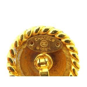Chanel Gold Tone Hardware Cufflinks