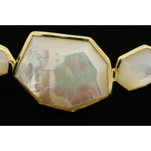 Ippolita Rock Candy 18K Yellow Gold with Mother Pearl Bangle Bracelet