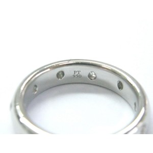 Tiffany & Co. Etoile Platinum with 0.22tw Diamond Wedding Band Ring Size 8.5