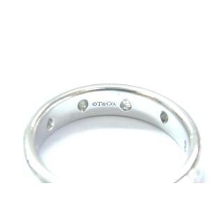 Tiffany & Co. Etoile Platinum Diamond Wedding Band Ring Size 4.5