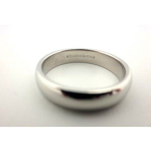 Tiffany & Co. Lucida Platinum Wedding Band Ring Size 7