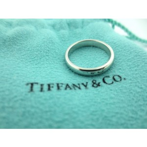 Tiffany & Co. Lucida Platinum Wedding Band Ring Size 6