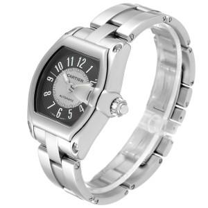 Cartier Roadster Gray Silver Tuxedo Dial Steel Mens Watch W62001V3