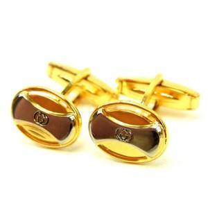 Gucci Gold & Silver Tone Hardware G Logo Cufflinks