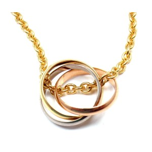 Cartier 18k Yellow White and Rose Gold Trinity Necklace