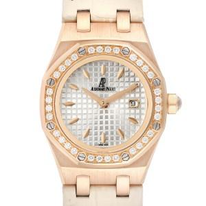 Audemars Piguet Royal Oak 33mm Rose Gold Diamond Ladies Watch 67621OR
