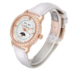 Blancpain Quantieme Complet 18k Rose Gold Diamond Watch 3663-2954-55B