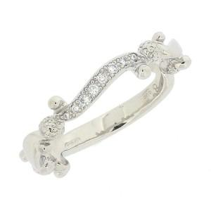 Gucci Platinum Diamond Ring Size 4.25