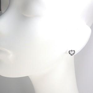 Tiffany & Co. PT950 Platinum Open Heart Earrings