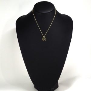 Tiffany & Co. 18K Yellow Gold Fish Tail Pendant Necklace