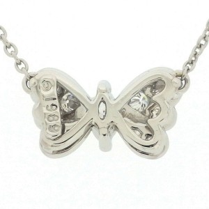 Tiffany & Co. PT950 Platinum with Diamond Butterfly Motif Necklace