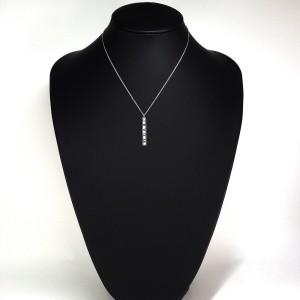 Tiffany & Co. Atlas 18K White Gold with Diamond Necklace
