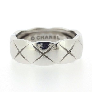 Chanel 18K White Gold Ring Size 6.5