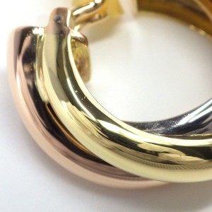 Cartier Trinity 18K Tri-Color Gold Earrings