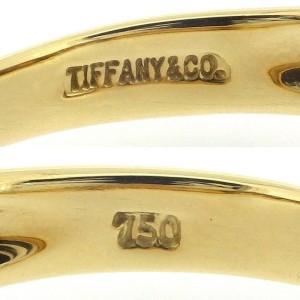 Tiffany & Co. 18K Yellow Gold Diamond Heart Ring Size 6