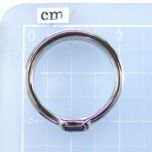 Tiffany & Co. 18K White Gold Sapphire Ring Size 6
