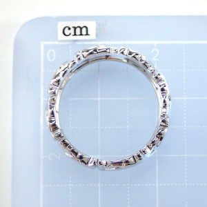 Cartier Entrelaces 18K White Gold Ring Size 6.75