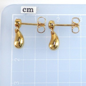 Tiffany & Co. 18K Yellow Gold Diamond Tear Drop Earrings