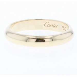 Cartier Classic Wedding Ring 18K Yellow Gold Size 7.25