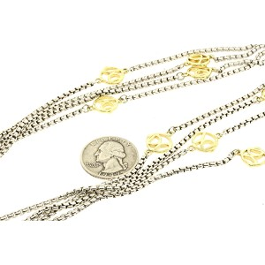 David Yurman 72 18K Yellow Gold, Sterling Silver Necklace