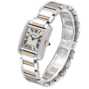 Cartier Tank Francaise Small Two Tone Ladies Watch W51007Q4