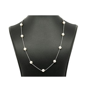 Mikimoto 18k 18K White Gold Cultured Pearl Necklace