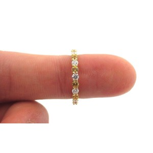Tiffany & Co. Ring 18K Yellow Gold Sapphire Diamond Size 3.75