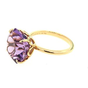 Tiffany & Co. 323465377022-E 18K Yellow Gold Amethyst Rings Size 6