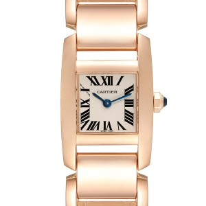 Cartier Tankissime Silver Dial Rose Gold Ladies Watch W650048H