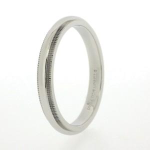 Tiffany & Co. Milgrain Platinum Ring Size 9.5