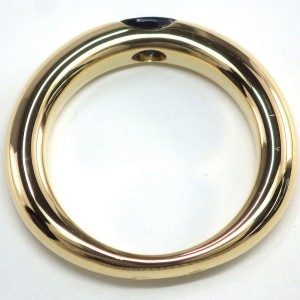Cartier 18K Yellow Gold Sapphire Ring Size 6.75