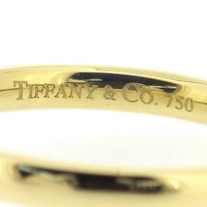 Tiffany & Co. 18K Yellow Gold Diamond Ring Size 4.5