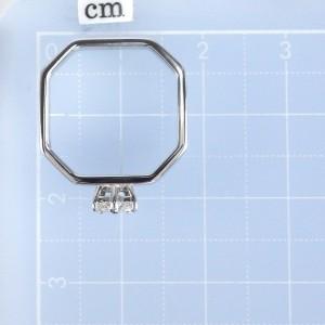 Gucci 18K White Gold Diamond Ring Size 4.5
