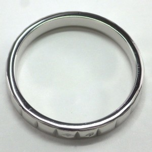 Chanel Platinum Ring Size 7.75