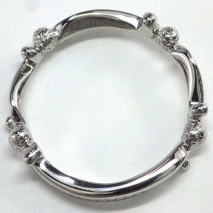 Gucci Platinum Diamond Ring Size 4.25