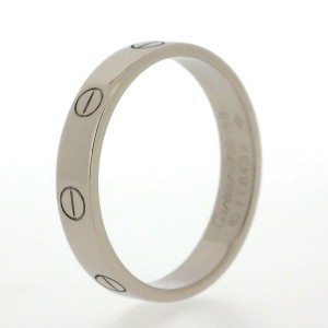 Cartier 18K White Gold Ring Size 8.5