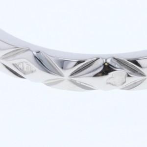 Chanel Platinum Diamond Ring Size 4.25