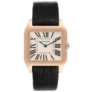 Cartier Santos Dumont Small 18k Rose Gold Unisex Watch W20095Y1