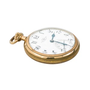 Antique Ball Watch & Co Pocket Watch Official RR Station 87.8 Grams 50 mm