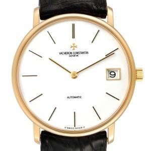 Vacheron Constantin Patrimony 18K Yellow Gold White Dial Mens Watch 44001