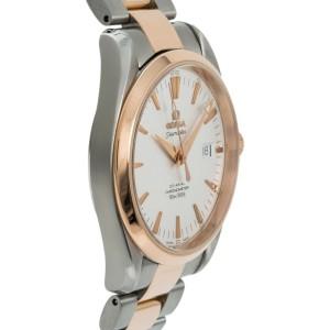 Omega Seamaster Aqua Terra 168.1111 Mens Automatic Watch 18k Rose Two Tone 39mm