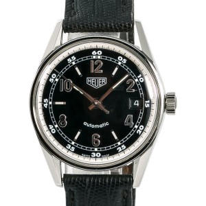 Tag Heuer Carrera WS2111 Mens Automatic Watch Black Dial Stainless Steel 35mm