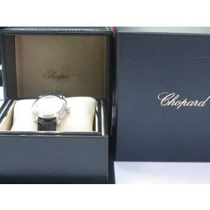 Chopard Happy Sport Round White MOP Diamond Dial Ladies Watch 36mm 4875
