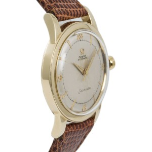 Omega Seamaster G6546 Mens Vintage Hand Winding Watch 14K YG 34mm