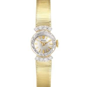 Rolex 14k Yellow Gold Diamond Vintage Cocktail Ladies Watch