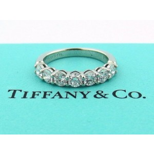 TIFFANY & CO PLATINUM SHARED SETTING .91CT .93 DIAMOND 3.5MM BAND 8.5